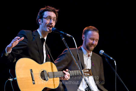 David and Sean Myles at the Music for Haiti