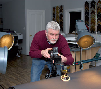 Steven Kennard in his studio
